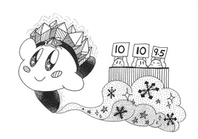 Kirby Inktober Day 11: Favourite Elemental Ability by Nintooner