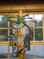 Stained Glass Fishes by zeara263