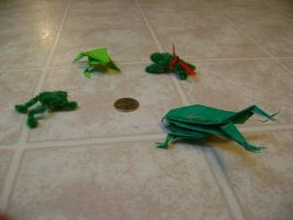 Frogs of the origami roundtable by FroggyDreams