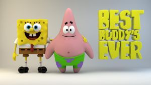 Spongebob+patrick-best buddys by The3DLeopard