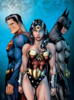 Super Man, Batman, Wonderwoman by Ruminus