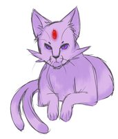Realism Espeon Sketch by Spookie-Sweets