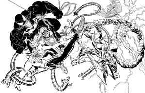 INKS: Spider-Man jam by fredmast
