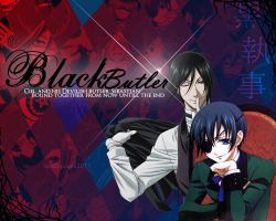 BlackButler Wallpaper by CreamCup-A-Cake