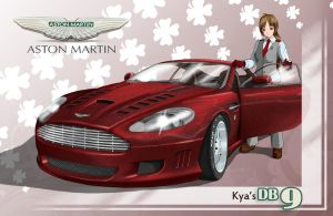 Kya and her DB9 by Acdnoodles