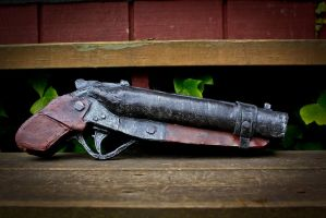 double barrel shotgun NV finished fallout by Maewolf86