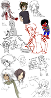 sketches and stuff :D by DannyPhantomFreek