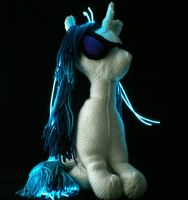 First Big DJ Pon-3 - Knitted Plush by SparkAbsurd