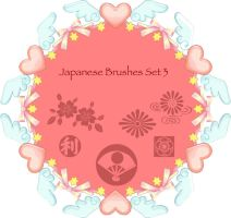 Japanese Brushes Set 3 by KaiPrincess