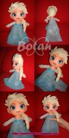 chibi Elsa plush version by Momoiro-Botan