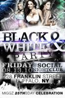 BLACK AND WHITE PARTY flyer by V1sualPoetry