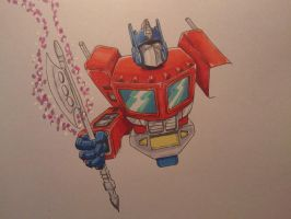 Unfinished Optimus by Brodiezilla