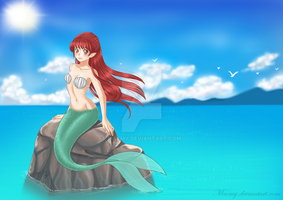Mermaid on the sea rock: Celesta by Maemy