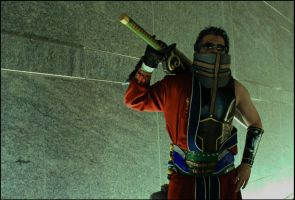 Auron at the ready... by negativedreamer