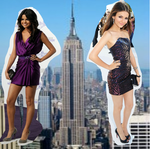 Giantess Victoria Justice and Selena Gomez by randomstuff126