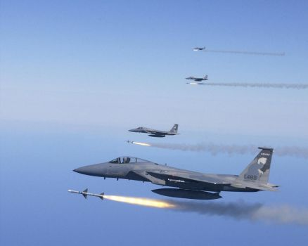 McDonnell Douglas F-15C Eagles of the ORANG 173RD by GeneralTate