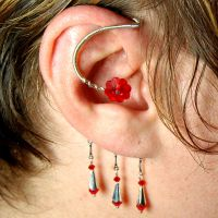 Red Ear Wrap- SOLD by YouniquelyChic