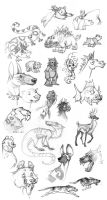 Animal and Creature Sketches by Vamtaro