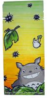 Totoro bookmark by Tikkaaa