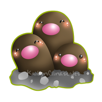 Dugtrio by Clinkorz