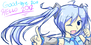 Snow Miku: HAPPY NEW YEAR by DaRandom1