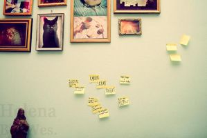 Our post-its and Jesus by Helenabw
