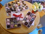 Valentine's day miniature candy/chocolate box by LittlestSweetShop