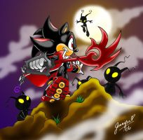 Shadow the Keyblade Master by CrimsonChaos56