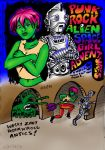 Punk rock alien space girl adventures 11-21-15c by J-Mobius