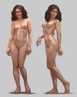 Woman body study by 3Daemon