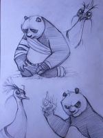 Kung Fu Panda 2 sketches by ChanChili
