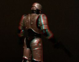 RoboCop Silhouette Anaglyph 3D by zentron