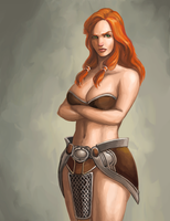 Female Barbarian by Ulsae