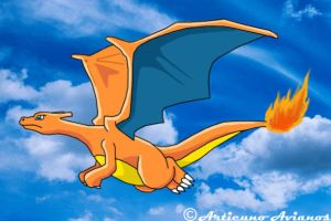 Charizard T-shirt by Articuno