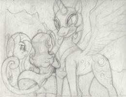 Carol and Nightmare Moon (free to color) by todd18