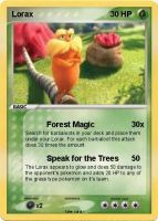 Lorax Pokemon Card by LilMissFanGal
