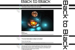 Tumblr theme Back to black by creatief2