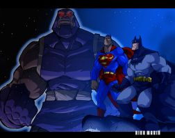 Worlds Finest vs Darkseid by Misterho