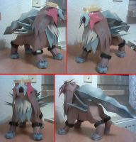 Papercraft Entei by Xanokah