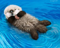 sea otter awareness week, otter pup by Psithyrus