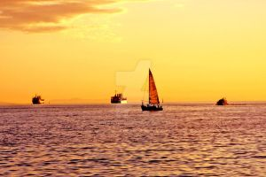 english bay sunset hours by IrisAngela