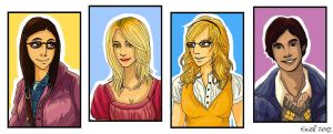 Big Bang Theory - The Girls by Eniell