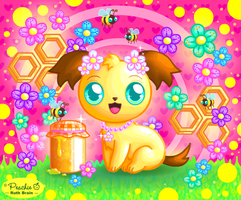 Honeybee Pup by Princess-Peachie