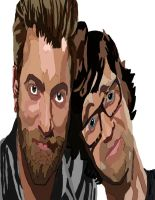 Rhett and Link No Pen Color 2 by daylover1313