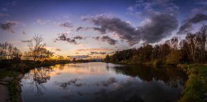 Autumn sunset by BandasPhoto