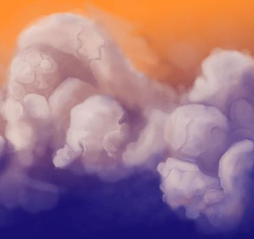 clouds with cracks by Xristl-Lilith