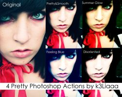 4 Pretty Photoshop Actions by k3Liaaa