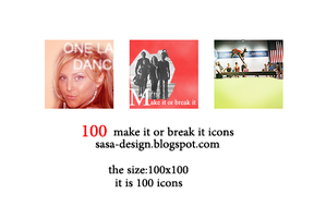100 Make it or reak it icons by sasa-92