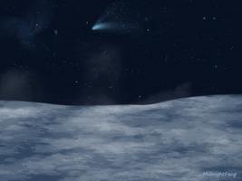 Passing Comet by xNightxx