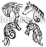 Tribals- Jackal-Horses by Hatter2theHare